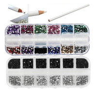 Wholesale 6000 x mm Nail Art Rhinestones GEMS FOR NAIL ART DECORATION FREE PICKER PENCIL TOOL