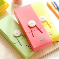 plastic pencil box - Cute Stationery Pencil Case Smile Tower Buckle Student High Quality Bag Creative Plastic Pen Box For Girls