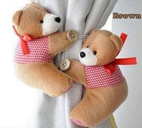 Wholesale Fashion Hot Pair Window Curtain Hook Tieback Cute Bear Curtain Buckle Hangers Belt