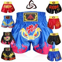 Wholesale ORANGE SPORT Womens Mens MMA Boxing Fight Shorts MMA Boxing Trunks Martial Arts Sanda Shorts Muay Thai Shorts Muaythai Trunks