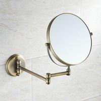 antique mirrors bath - Antique Brass Bathroom Makeup Mirror Cosmetic Mirror Double Faced Bath Mirrors