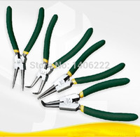 Stainless Steel bend spring steel - 4pcs set External internal with straight bent handle stick plastic circlip pliers spring installation and removal with quot order lt no tr