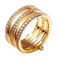 Cheap Promotion gifts ring Jewelry Ring party birthday jewelry 18k gold plated new cz ring Sparkly Zircon Ring for party