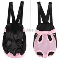 Wholesale Pet Dog Legs Out Front Carrier Bag Backpack Pet Carrier Front Dog Bag pink s