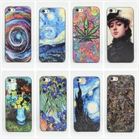 abstractionism painting - Abstractionism Art Phone Case For Apple iPhone Floral Plant Vincent Van Gogh Starry Sky Oil Painting Design For Iphone s Case