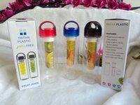Wholesale Tritan Plastic Water Bottle Cup Tritan Sport Fruit Bottles Cups Fruit Juice Cup BPA EA Free Eastman Tritan Plastics