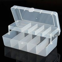 Wholesale New X6X10 CM Compartments Plastic Fishing Lure Tackle Box Double Sided Plastic Box Fishing Tackle Box Double open