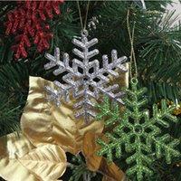 Wholesale 50sets cm multicolor Snowflake Christmas supplies Christmas Tree Window Showcase Decoration bag fedex