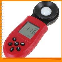 Wholesale HS1010 Lux FC Resoltution Digital Lux Meter LCD Backlight Luxmeter Digital Light Meter luminometer Photometer