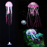 Wholesale New Brand Tank Ornament Swim Glowing Effect Jellyfish Jar Decoration For Aquarium Fish Drop shipping