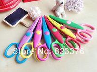 Wholesale DHL new cute Handmade DIY album lace art scissors Card pattern cartoon Gift scissors styles mix color