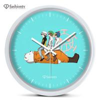 animated cartoon series - Pirates pirates series scalpel wall clock animated cartoon bedroom wall hanging mute electronic clock
