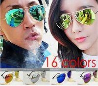 Wholesale HOT SALE Summer Coating fashion Sunglasses women men top fashion design classic unisex Sun Glasses colors