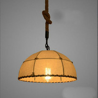 beige shade cloth - Pendant lights lighting lamps chandeliers hemp lights style light cloth Shade Vintage Industrial E27 Romantic shade lamp bedroom lamps