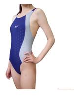 Livraison gratuite Nouveau design professionnel Racing Match Maillots de bain pour les femmes 4Colors rapide séchage étanche Match Match Natation
