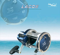 Wholesale Line winder jigging trolling boat fishing reel coil L DXwith counter casting drum reel wheel molinete pesca big game