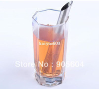 Wholesale Stainless Steel Filter Tea Sticks Teaspoon Colander Tea Strainers Oblique Tea Stick Tube Tea Infuser Steeper