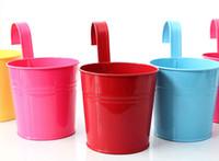 garden pot holder - Mini flower pot planter small seeds metal pots with hook pots decorative flowerpot garden flower seed holder