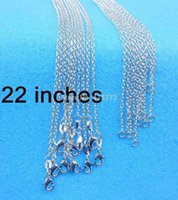 Wholesale 22 inch Sterling Silver quot O quot Necklace Jewelry Word quot O Link Necklaces Chains ROLO chain Necklaces Nice