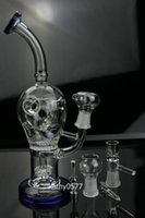 Wholesale 2014 newest circular Honeycomb perk quot glass bong water pipe oil rig with Titanium nail mm