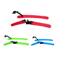 bicycle fender mounts - Hot Bicycle Front Rear Mudguard ABS Bicycle Fender Set Removable Lightweight Bike Accessory for Mount Road Folding Bike