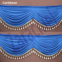 Wholesale High Quality meter drape swag to attach ice Silk Party Backdrops for party decoration free shiipping