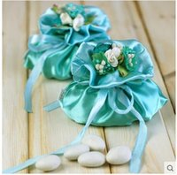 Satin gauze fabric - European fairy beauty and joyful bag green creative yarn bag wedding joyful box marriage gauze fabrics Original design favor bags