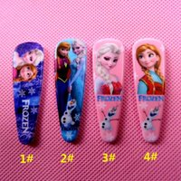 Wholesale 2015 Hot Sale Frozen Elsa Anna girls hairpins children cartoon hair accessories princess Elsa Anna hair clips
