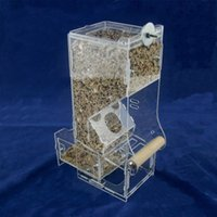 Wholesale Tidy Seeds No Mess Bird Feeders with Bottom Drawer Locker Anti spread Food Containers for Parrot Pet Size S L XL