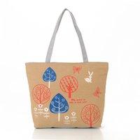 Les femmes fourre-tout de la mode sac paysage imprimé femme un sac à bandoulière gadgets sac de toile de support 4 couleurs disponibles