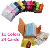 Wholesale Business Credit Card Wallet Holder Bags PU Leather Buckle Bank Card Bag ID Card Cover Bank Multi functional purse Cover