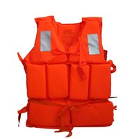 Wholesale Professional Adult Working Life Jacket Foam Vest Survival Suit with Whistle Outdoor Water Sport Swimming Drifting Fishing
