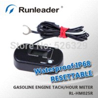Wholesale Powersports Resettable Digital RPM Tachometer Moto Timer for Mini Motorcycle Gas Dirt Bike Parajet M54450 Instruments
