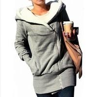 Wholesale Hot Sale fashion Womens autumn winter Long Zip Tops Hoodie Coat Jacket Outerwear women coat Drop shipping GWF