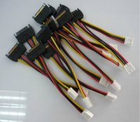 Wholesale 1pcs Pin SATA Male to Pin FDD Floppy Female Power Cable Lead PC diy