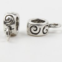 big crafts - Tibetan Silver mm Hole Spiral Charms Bail Big Hole Beads Fit Bracelets Craft DIY x12mm L697
