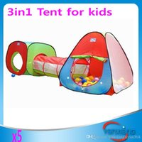 Cheap Cubby-Tube-Teepee 5pc Pop-up Play Tent Children Tunnel Kids Adventure House High Quality Free Shipping ZY-ZP-002