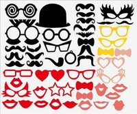 Wholesale New Sale Different Styles DIY Photo Booth Props Hat Mustache On A Stick Wedding Birthday party fun favor