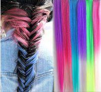 Wholesale 10 color matte dyeing hair extension piece streaked wig piece Gradient Feather belt clip COS false