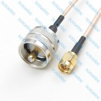 rf coaxial pigtail cable - inch SMA male to UHF male PL259 PL plug with RG316 RF Coaxial Jumper Pigtail LOW LOSS cable cm quot for wifi antenna