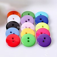 Wholesale Hot Sale mm Mixed Color Round Shape Hole Resin Button Fit Sewing Scrapbooking Apparel Sewing