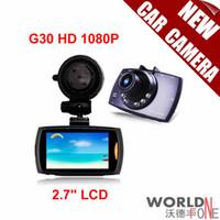 Visions dvr France-Original G30 HD 1080P 2.7 pouces LCD Car Camera voiture DVR Novatek 96220 Véhicule Date de voyage enregistreur Night Vision Tachograph