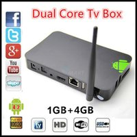 Wholesale Best price Vsmart H1 Android Samrt Tv box Dual core GB GB with function WIFI display DLNA with remote control
