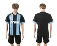 blank football jersey - Mens Soccer Kits Marseille Away Black Blank Football Jersey Short Sportswear for Men free custom name number mix order