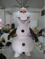 2016 Hot Sale Nouveau sur mesure Frozen costume Frozen Dress Olaf Snowman Costume Mascot Livraison adulte gratuit par EMS