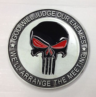 animal meetings - The Punisher belt buckle God will judge our enemies we will arrange the meeting