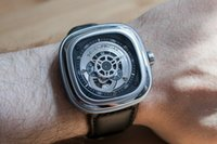 Wholesale SevenFriday P1 SF P1 Silver Rhodium mm Automatic Stailess Steel Mens Men s Watch Watches