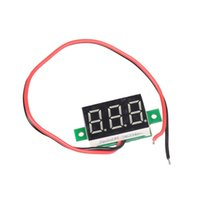 Wholesale Brand new Mini DC V Red LED Panel Voltage Meter Digital Display Voltmeter MTY3