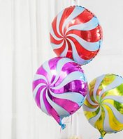 Wholesale 18 inches Candy balloon lollipop shaped Aluminum foil balloon party balloon party Accessory baby shower balloon birthday balloon