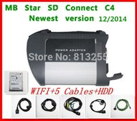 Wholesale Prefessional Diagnostic Tool MB Star C4 MB SD connect compact with wifi HDD disk DAS XENTRY